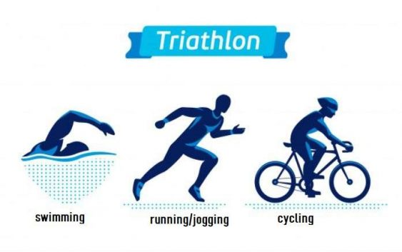 running swimming cycling health benefits