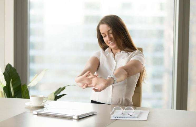 simple desk workout and desk exercises