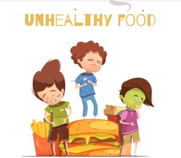 stale or junk food