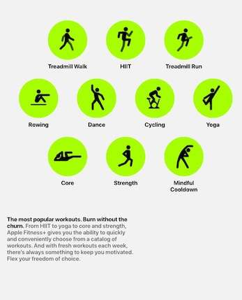 different workout modes