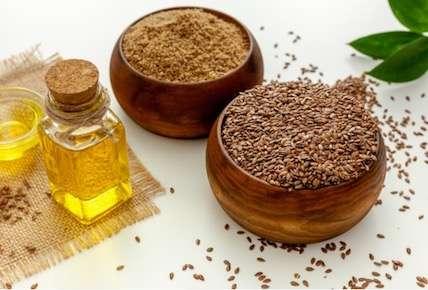 flax seeds flour powder