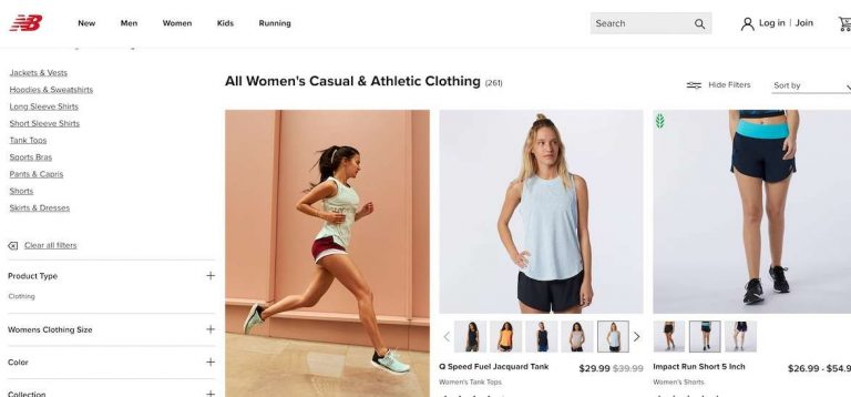New Balance women workout wear